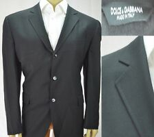 Dolce Gabbana Blazer Sports Coat Men's Size 48 Long Black