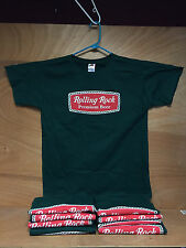 Rolling Rock Beer Green Tee T Shirt Short Sleeve - ~ Large ~  NEW & F/Shipn.