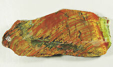 KALEIDOSCOPE JASPER..Curved band patterns in red & yellow with some green areas.