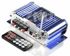 Blue Amplifier for motorcycles 2*40w Car Audio AMP Amps MP3 iPod Stereo DC 12V