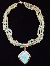 Jay King MINE FINDS Sterling Silver Multi-Gemstone Necklace & Pendant Turquiose