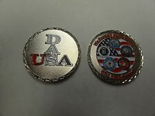 CHALLENGE COIN DAS USA PROUDLY SERVING THOSE WHO SERVED USMC USAF USCG USN ARMY