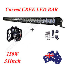 31 Inch 150W Curved CREE Single Row LED Work Light Bar Driving Lamp UTE ATV 4WD