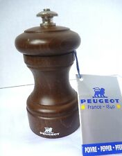 Peugeot Bistro Brown Wooden Pepper Mill FRANCE 12922 unused orig tag PM 10cm 4in