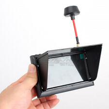"FX-F408 Black 4.3"" LCD 5.8G 32Ch FPV Monitor Wireless Receiver Wired Display 2hr"