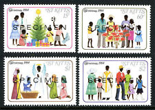 St Kitts 161-164, MNH. SPECIMEN. Christmas. Gifts, Caroling, Nativity, 1984