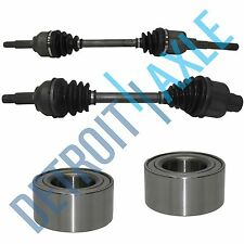 4 pc Kit - Front Driver and Passenger CV Axle Shaft + 2 Wheel Bearings