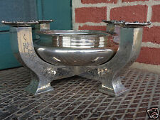ANTIQUE MERIDEN ART NOUVEAU ARTS & CRAFTS SILVER CANDELABRA CENTERPEICE BOWL WOW