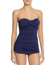NWT NEW Tommy Bahama Blue Pearl Twist Bandeau One Piece Swimsuit 4$130 mr09