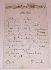 Ancien Menu avec nombreuses signatures au verso dont le nom de Maurice GIELEN