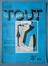 ► TOUT LE SYSTEME D N°41 - 1937 - T.S.F. INVENTIONS -   - FORGE