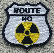 "ROUTE 66 RADIATION PATCH 3"" Cloth Badge/Emblem/Insignia Nuclear Biker Jacket Bag"