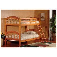 Oak Finish Bunk Beds Bunkbeds Solid Wood Set Twin Kids Wooden Bunkbed Furniture