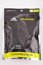$30 Adidas Climacool Recovery Compression OTC Socks Over Calf White Black S