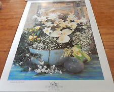 Lily advertising poster for the Flowers and Plants Association Vintage C1995