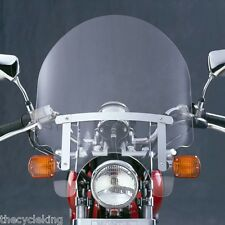 "'85-'16 Honda CMX 250 Rebel CMX250 - MED 17"" tall Clear Windshield w/chrome kit"