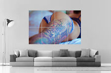 SEXY GIRL  TATOOS Wall Art Poster Grand format A0 Large Print