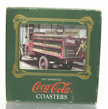 COCA COLA METAL COASTERS 1989 SET OF 6 NEW IN BOX 1900-1930's COKE POP SODA