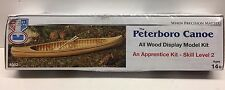 The Peterboro Canoe Wooden Model Kit