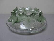 "VINTAGE LALIQUE CRYSTAL ""LIERRE"" ART GLASS COUPES 8"" BOWL, MINT!"