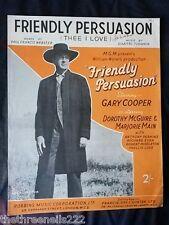 Partitura Original-Friendly persuasión de la película-Gary Cooper