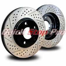 JEE003FD Grand Gherokee SRT8 SRT-8 Front Performance Brake Rotors Double Drill