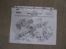 1964 Clinton D65-1000 Chainsaw Illustrated Basic Parts List MORE IN OUR STORE  G