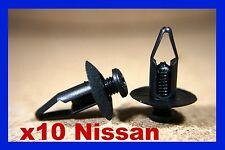 10 Nissan paraurti anteriore fascia striscia striscia gomma a pressione vite