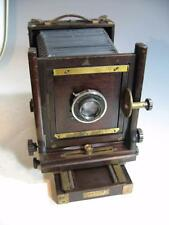 Vintage Ansco 5 X 7 Wood Wooden View Camera With 4 X 5 Back & Zeiss Lens