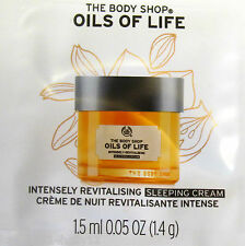 THE BODY SHOP~OILS OF LIFE~Intensely Revitalising Sleeping Cream 7x1.5ml~TRAVEL~