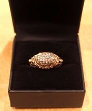 Authentic EFFY 925 18K .35 TCW Diamond East West Ring  WOW *195*