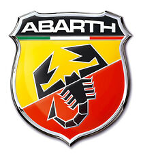 New Abarth Sticker Abarth 3D Chrome Badge Logo Sticker for Car & Bike