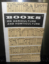books on agriculture and horticulture, bulletin, 1958, ministry of agriculture