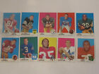 1969 TOPPS NFL FOOTBALL CARDS LOT OF 20 IN EXCELLENT CONDITION LOT 8 TUB CB