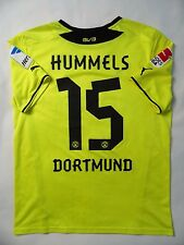 5/5 BORUSSIA DORTMUND 15 HUMMELS 2013/2014 HOME ORIGINAL FOOTBALL JERSEY SHIRT