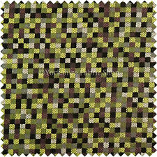 Polka Square Checked Pattern Green Upholstery Curtain Cushions Drapery Fabric