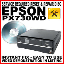 Epson Stylus Photo PX730WD Printer: Service Required Fault Reset Fault Fix Disc