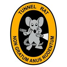 "Vietnam Tunnel Rat 3"" Reflective Decal Sticker Reproduction"