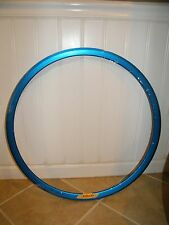 NEW VELOCITY DEEP V BLUE RIM: 32H, NON-MSW, 700C, WHEEL, NO SPOKES OR HUB INC.