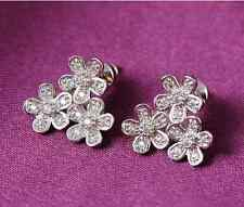 High Quality Three Flower Plated Ear Stud Jewelry