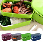 Portable 2 Layers Bento Lunch Box Plastic Food Container Lunch Container FSS