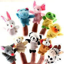 10 x Familie Finger Puppets Stoff Puppe Baby Hand Cartoon Spielzeug neue VNC