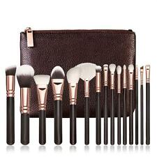 15 PCS Pro Makeup Brushes Set Cosmetic Complete Eye Kit + Case D2