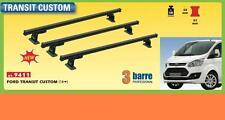 TRE BARRE PORTATUTTO PROFESSIONALE FORD TRANSIT CUSTOM DAL 2014 PORTATA 100 KG