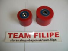 SUZUKI RM 500 83  Chain Roller Set Rollers Upper & Lower Chainroller Red