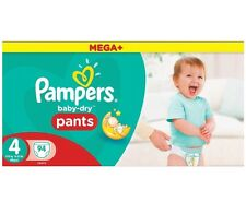 Pampers Baby Dry Pants Size 4 Monthly Saving Pack Total 94 Nappies Free P&P NEW
