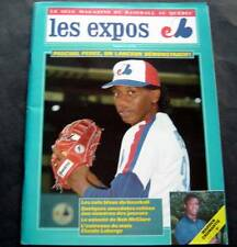 Les Expos Baseball Magazine In French July 1988 Perez Cover Scoresheet Montreal