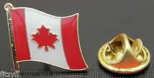 Canada Canadian Country Flag Lapel Tie Cap or Hat Pin Badge Brooch #1