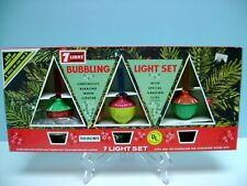 NEW BEACON 7 BUBBLING LIGHT SET WITH HANGING CLIPS, UL RATED, NO.77