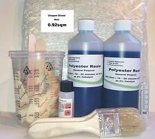 Fibreglass repair kit grp Mat + Resin1kg Lloyds approved  Boat  Fibre glass